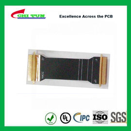 China Sillkscreen Flexible PCB Fabrication , Mobile Phone PCB Board Black Solder Mask Supplier