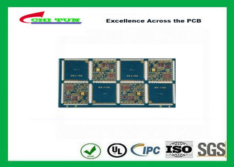 China IPC Standard Double Sided PCB Board Blue Solder Mask FR4 1.0MM Device PCB Supplier