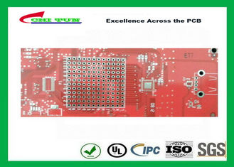 China Double sided PCB Gold Plating  Red solder mask LF HASL  ISO9001  UL  ISO SGS Supplier