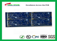 Blue Resistance Welding Multilayer PCB  6 Layer  FR4 ( Shenyi Material ) Chem Gold