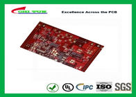 Multilayer PCB with 6Layer  printed circuit board thickness 2.5mm Red solder mask