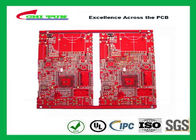 Red Multilayer PCB 6 Layer FR4 IT180 Material 1.0mm , 0.35MM Min Hole