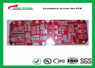 Red Double Sided PCB Two Layer Circuit HASL Prototype Circuit Board