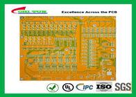 Mortherboard Quick Turn Printed Circuit Boards  with Yellow Solder Mask FR4 1.6MM