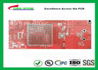 China Double sided PCB Gold Plating  Red solder mask LF HASL  ISO9001  UL  ISO SGS Providers