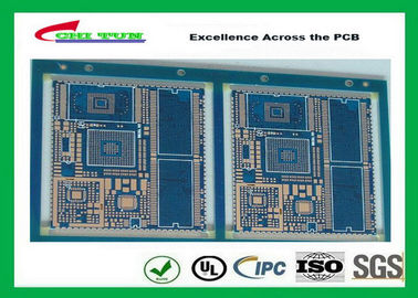 Good Quality Blue Solder Mask GPS PCB 6 Layer FR4TG150 1.6MM Immersion Gold Half Holes Suppliers