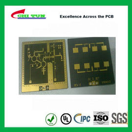 Good Quality 3 Layer TLY-9+HT1.5 SOFT GOLD Smt PCB Assembly Service with Black Solder Suppliers